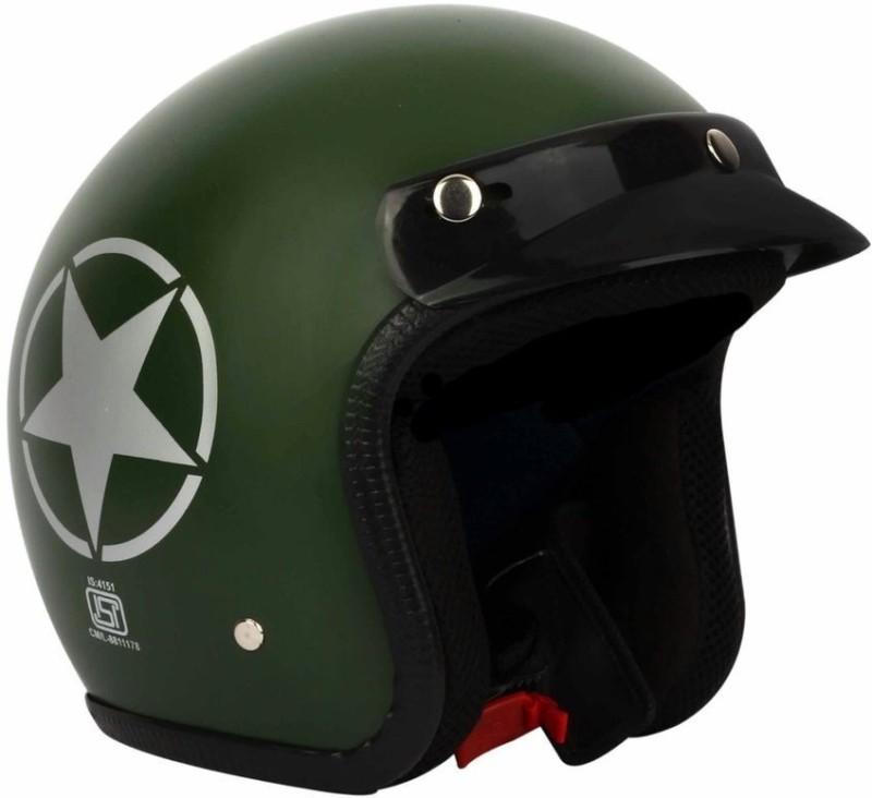 WonderPurchase O2 Star Motorbike Helmet(Green)