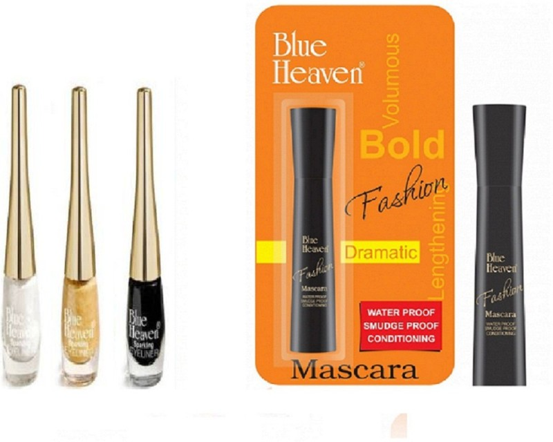 Blue Heaven fashion mascara with sparkle liner(01,02,04)(Pack of 4)