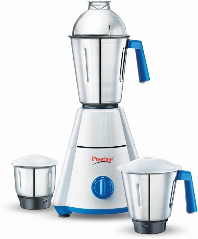 Prestige NAKSHATRA 550 W Mixer Grinder(WHITE & BLUE, 3 Jars)