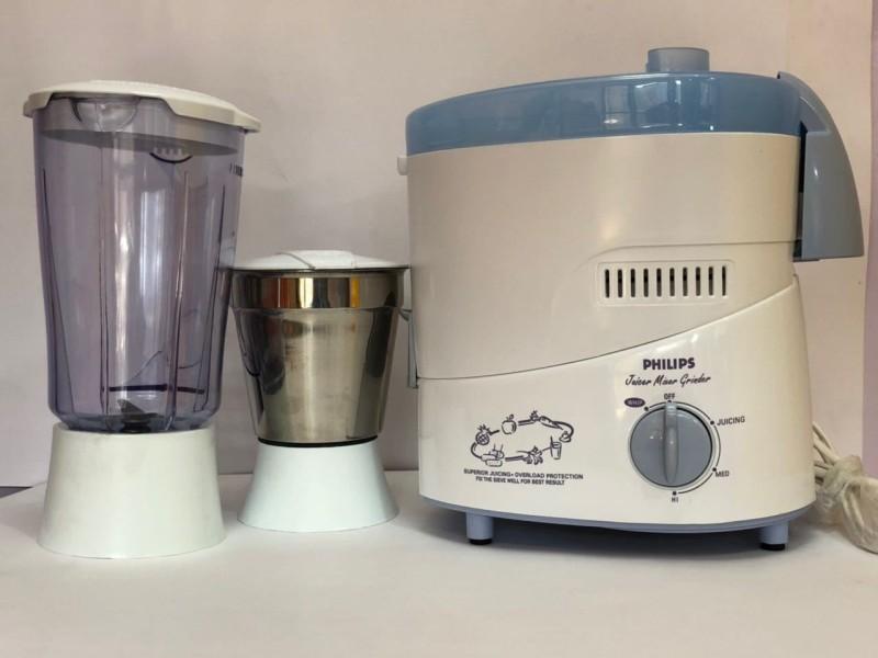 Philips HL1631 500 Juicer Mixer Grinder(White, 2 Jars)