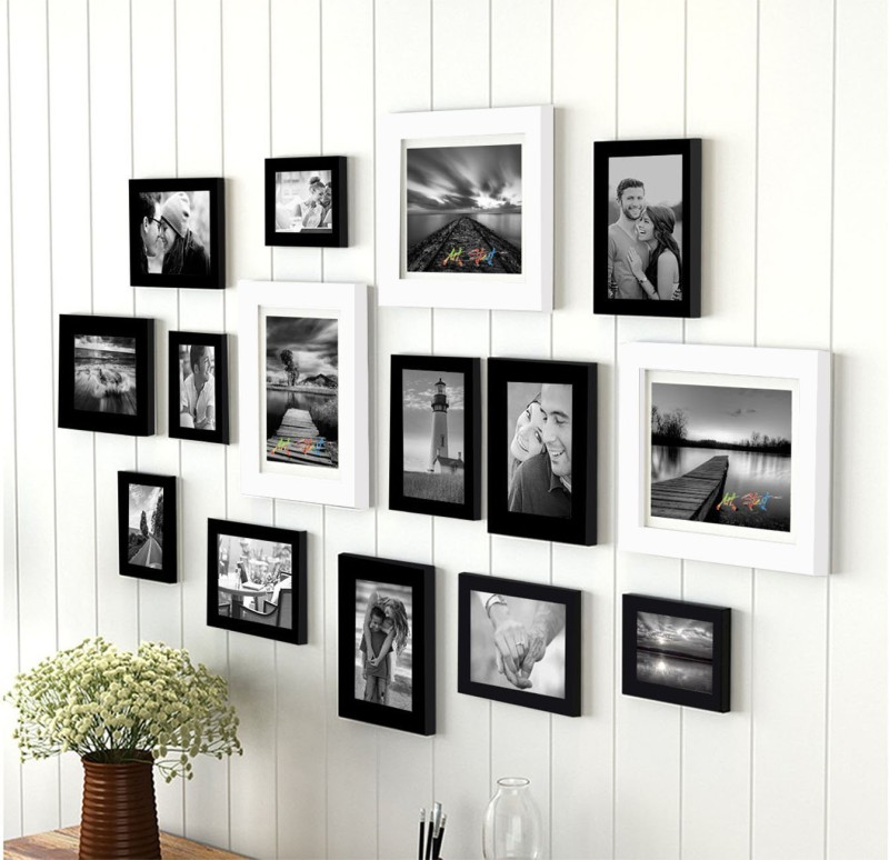 Painting Matra Generic Photo Frame(Black, White, 15 Photos)