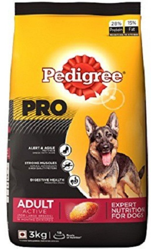 Pedigree Professional Active Adult Chicken 3 kg Dry Dog Food