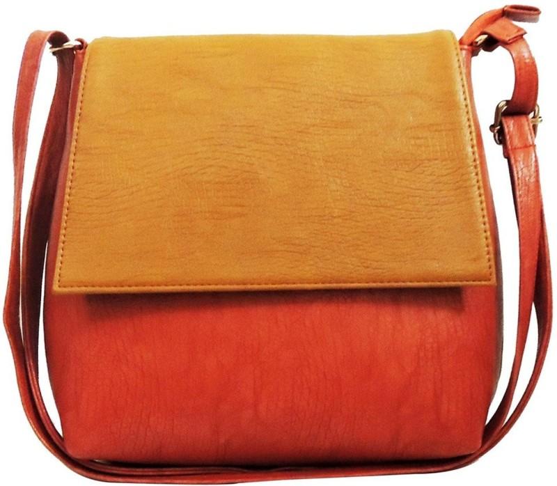 Faijan Fashions Pink, Beige Sling Bag