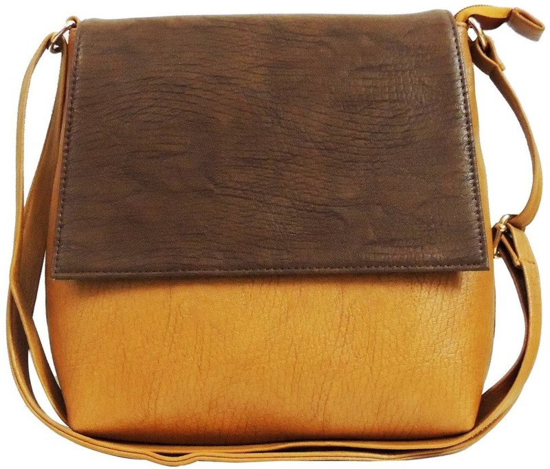 Faijan Fashions Brown, Beige Sling Bag