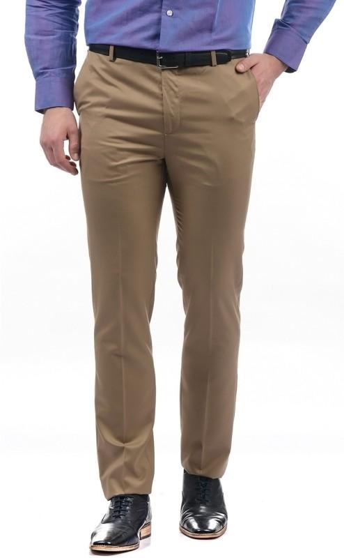 Arrow Tapered Men Beige Trousers