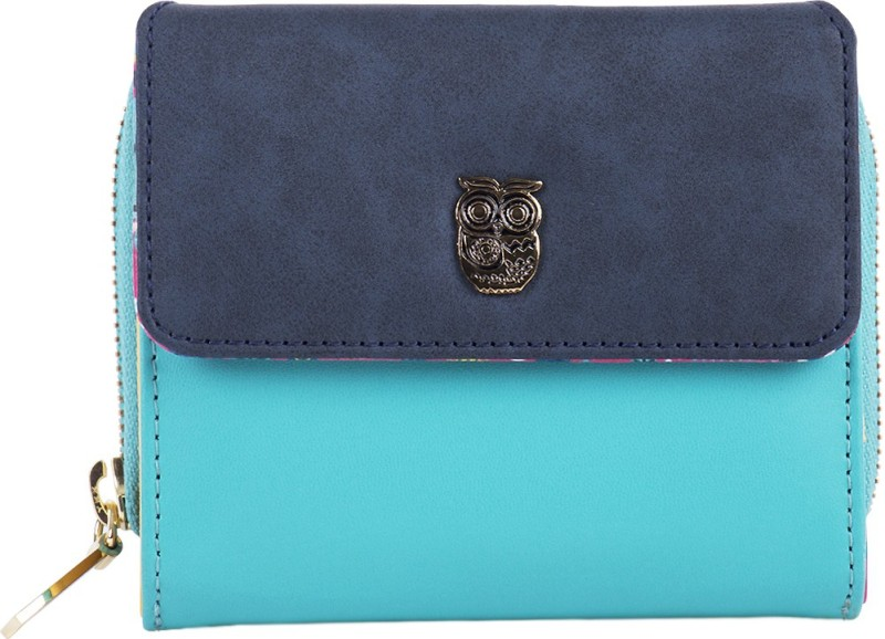 Chumbak Women Blue Fabric Wallet(5 Card Slots)