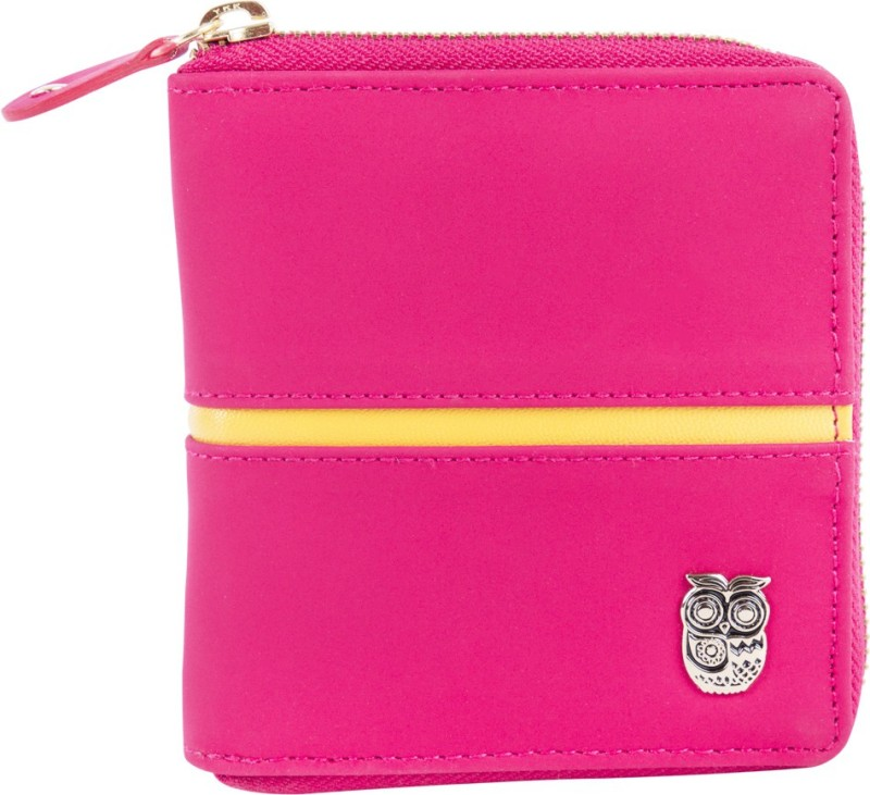 Chumbak Women Pink Fabric Wallet(6 Card Slots)
