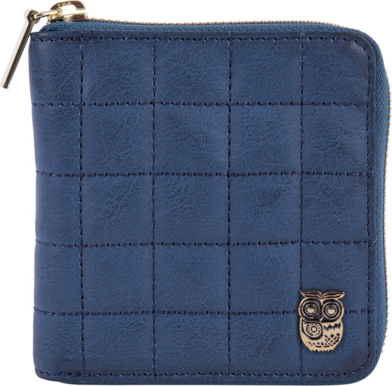 Chumbak Women Blue Fabric Wallet(6 Card Slots)