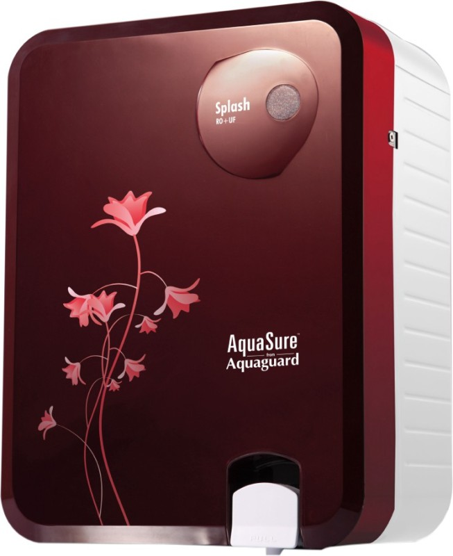 Eureka Forbes Aquasure from Aquaguard Splash 6 L RO + UF Water Purifier(Burgundy)