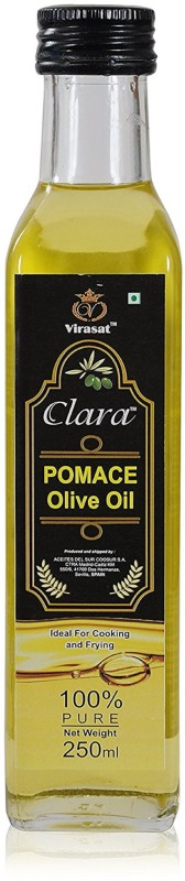 Clara Olive Extra Virgin Oil Pomace Olive oil 250 ml Olive Oil Glass Bottle(250 ml)