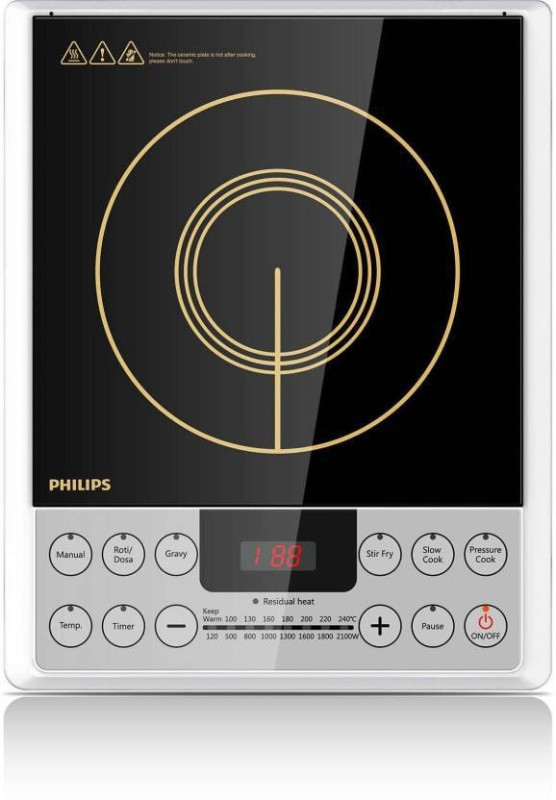 Philips hd4929/01 Induction Cooktop(Silver, Jog Dial)