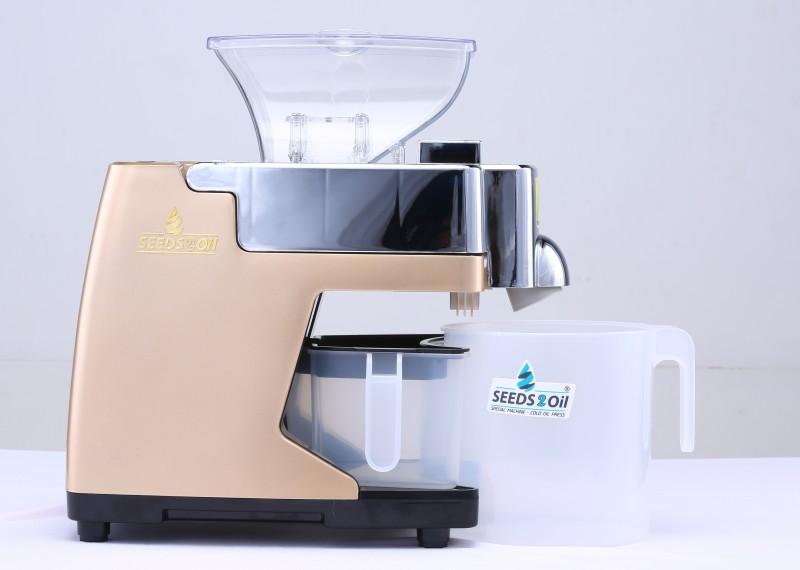 SEEDS2OIL Table Top Cold Press 500 Juicer Mixer Grinder(Gold, 1 Jar)