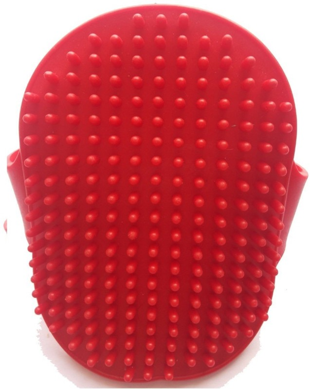 Super Dog Super Dog Grooming Hand Brush Grooming Gloves for Dog(Red, Fits All)