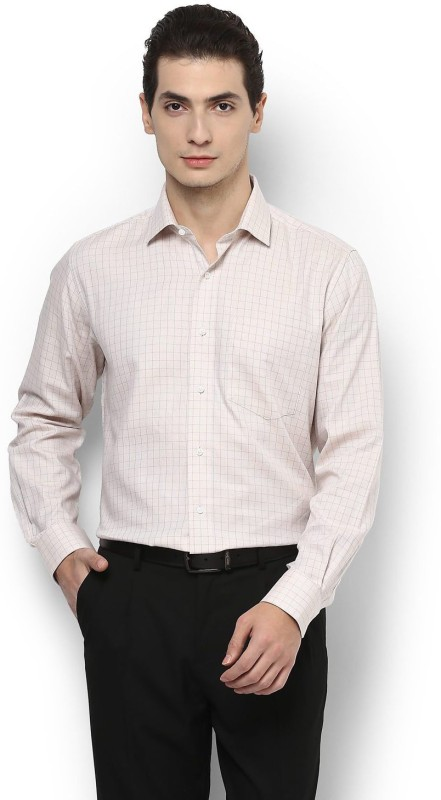 Van Heusen Men Checkered Formal Spread Shirt