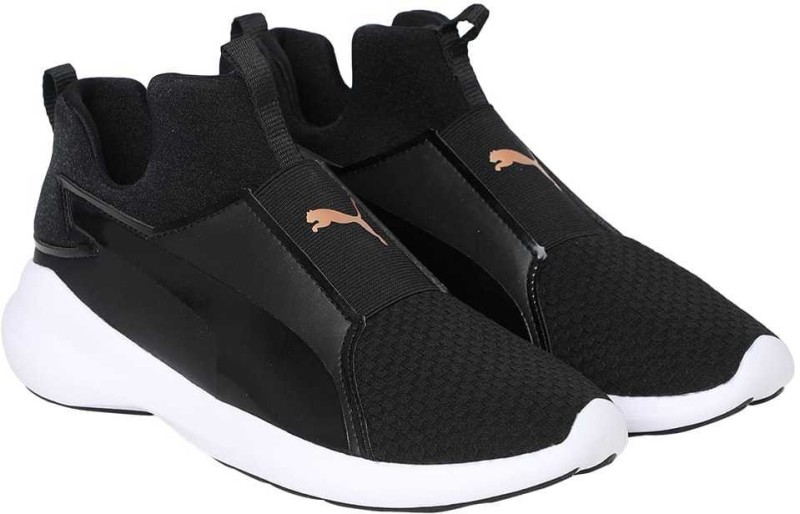 Puma Puma Rebel Mid Wns EP Running Shoes For Women(Black)