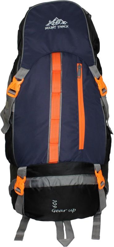 Mount Track Gear up Rucksack, Hiking Trekking Backpack with Rain Cover Rucksack - 60 L(Blue)