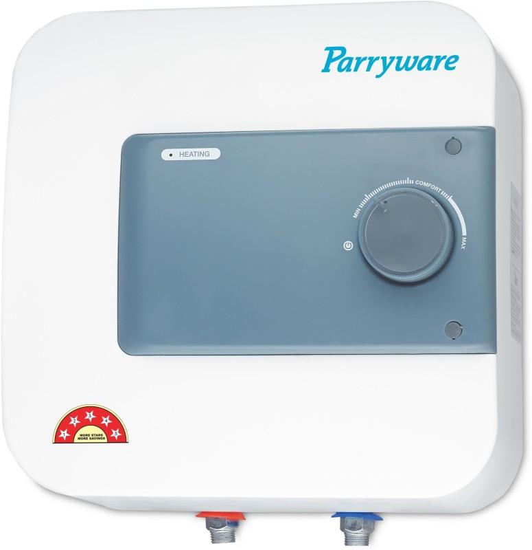 Parryware 15 L Storage Water Geyser(White, Blue, Water Heaters 5 star - 15 L - C500299)