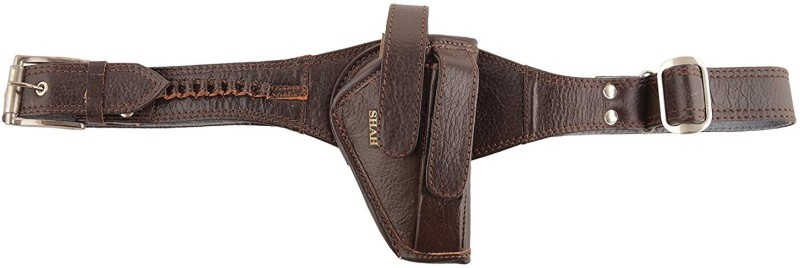 SHAH 32 Bore Pistol Cover with Belt (BROWN) Racquet Carry Case/Cover Free Size(Brown)