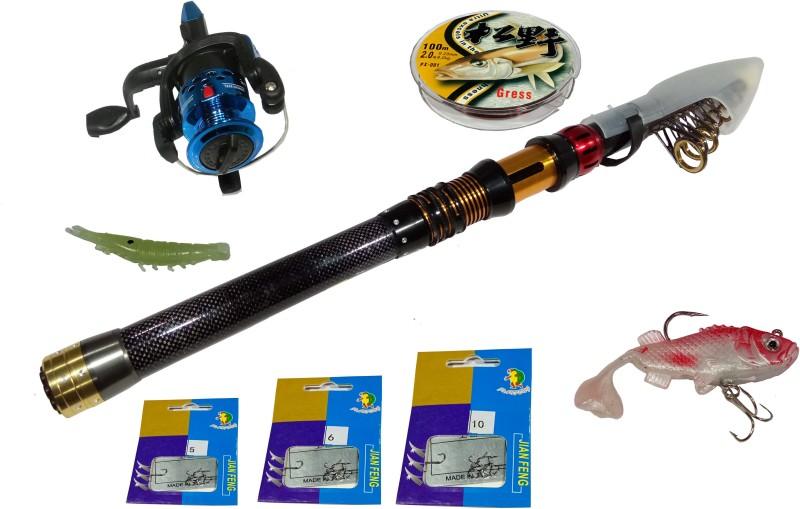 laxenterprise FISHING ROD COMBO KIT - 4N FS-360 45NH Multicolor Fishing Rod(332 cm, 0.368, Multicolor)