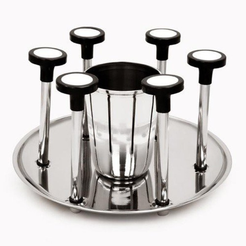 ekitchen SS Glass Holder Stainless Steel Glass Holder