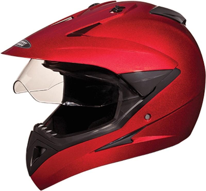 Studds MOTOCROSS(CHERRYRED) Motorbike Helmet(Red)