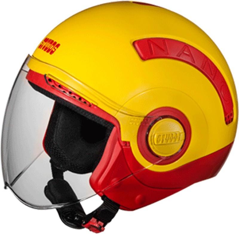 Studds NANO(RED/YELLOW) Motorbike Helmet(Yellow)