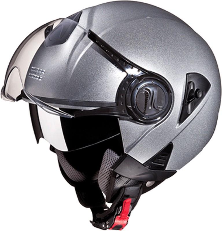 Studds DOWNTOWNO/F(SILVERGREY) Motorbike Helmet(Grey)