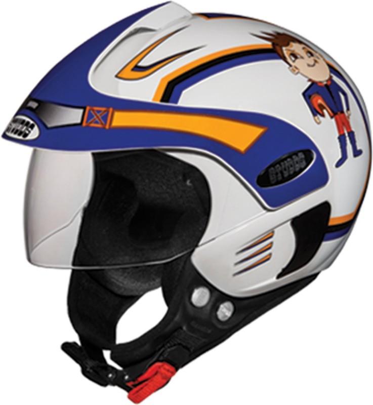 Studds MARSHALKIDD1(WHITEN1BOYS) Motorbike Helmet(Multicolor)