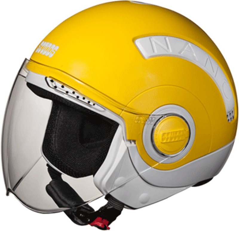 Studds NANO(WHITE/YELLOW) Motorbike Helmet(Yellow)