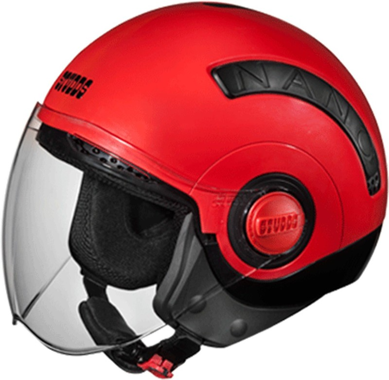 Studds NANO(BLACK/RED) Motorbike Helmet(Red)