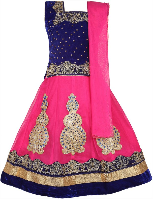 DELHIITE Girls Lehenga Choli Ethnic Wear, Party Wear Embellished, Embroidered Lehenga, Choli...