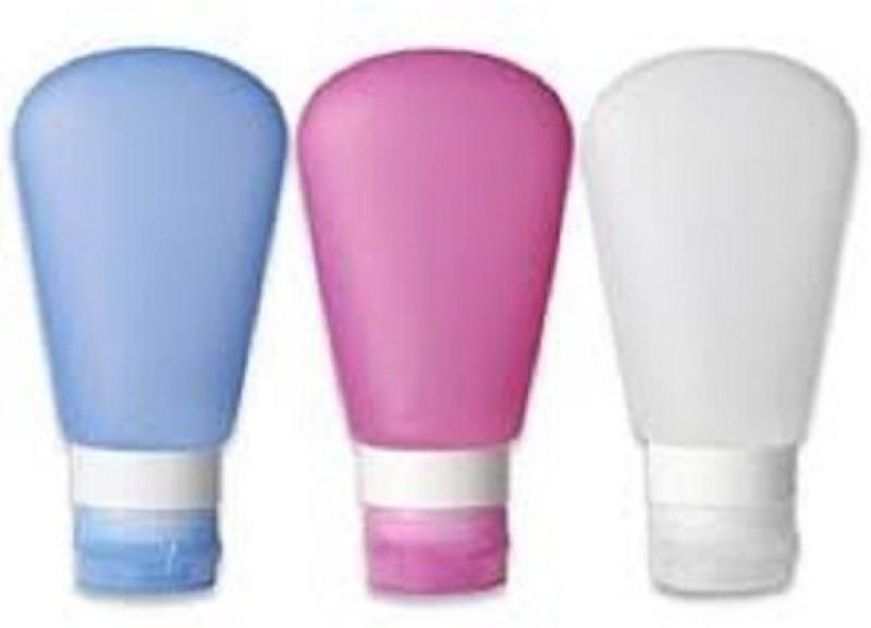 BANQLYN 2pcs TRAVEL BOTTLES SILICONE 60 ml Shampoo Dispenser(Multicolor)