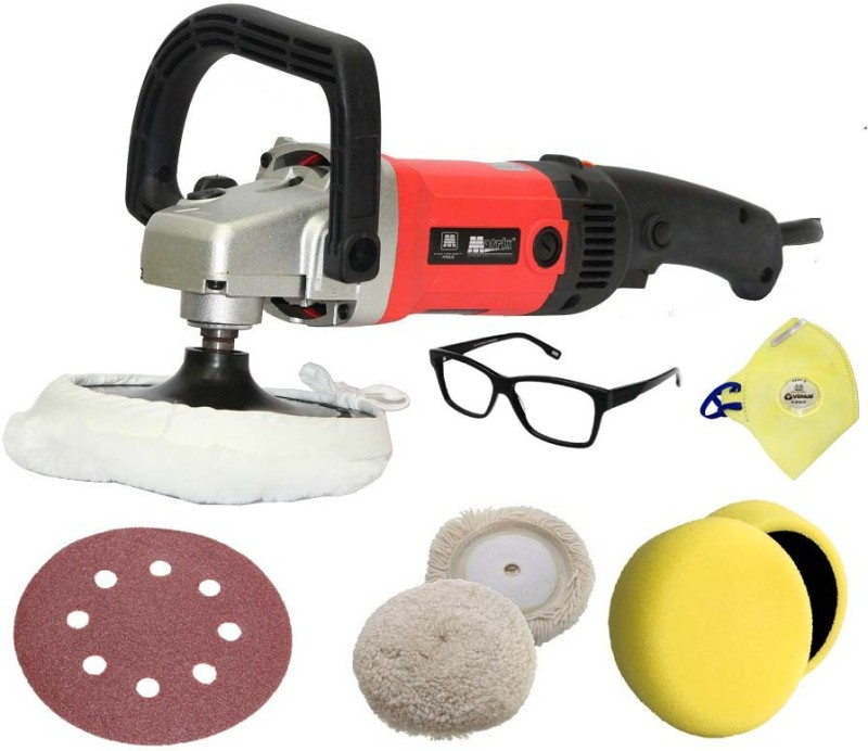Digital Craft Matrix 1200 W Variable Speed Car Polisher 500-3000 rpm 180mm Car Care Polisher Car Sanding Machine Car M14 Wax Electric Sander Mtk Vehicle Polisher(180 inch)