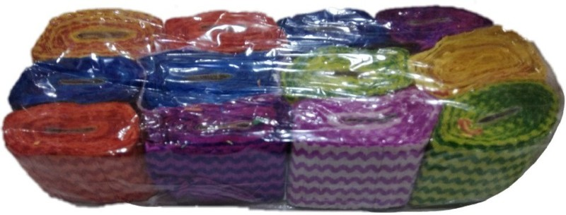 Shreeji Decoration Multicolor Crepe Ribbon Millenium Wave Paper Streamer Roll (Pack of 12) Multicolor Paper Ribbon(Pack of 12)