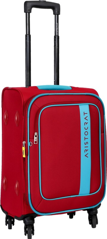 Aristocrat Duster Expandable Cabin Luggage - 22 inch(Red)