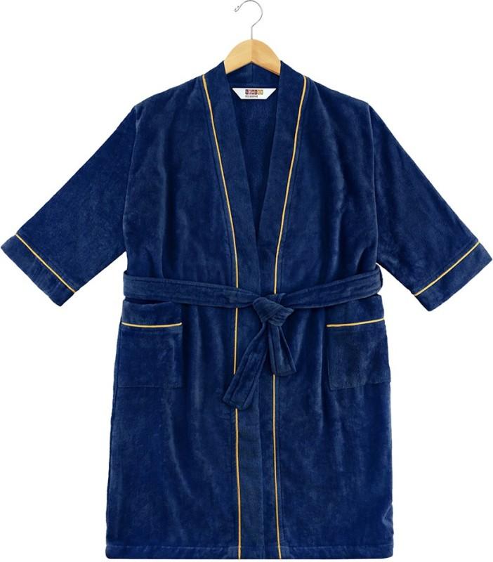 SPACES Estate Blue-Fire Large Bath Robe(1pcs Bath Robe, For: Men & Women, Estate Blue-Fire)