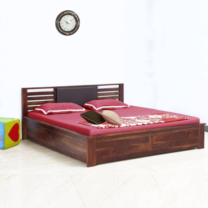 Vintej Home Horizon Sheesham Wood Solid Wood King Bed(Finish Color - Provincial Teak)