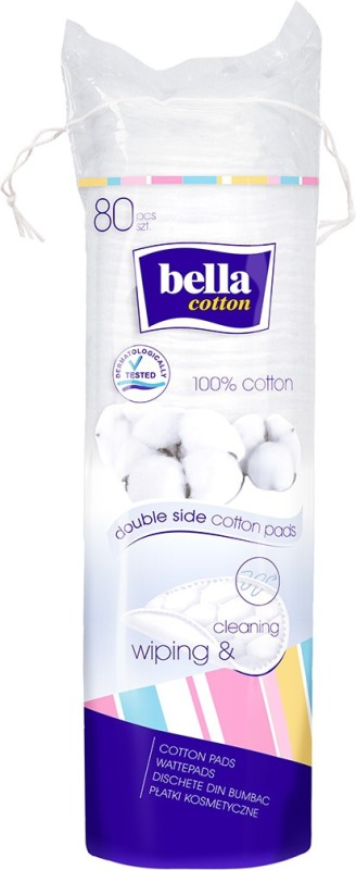 Bella Cotton Cotton Pads Round A80 Pcs(Pack of 80)