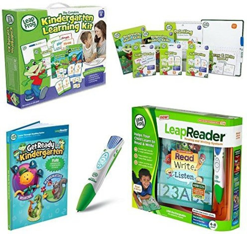 LeapFrog Leapreader Reading And Writing System, Green, Leapreader Book: Get Ready For Kindergarten W The Complete Kindergarten Learning(Multicolor)