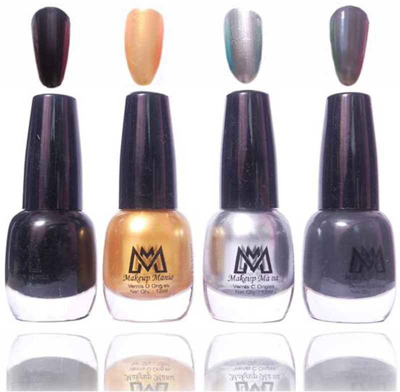Makeup Mania Premium Collection Nail Polish - Combo of 4 Exclusive Nail Enamels - MM42 Multicolor(48 ml, Pack of 4)