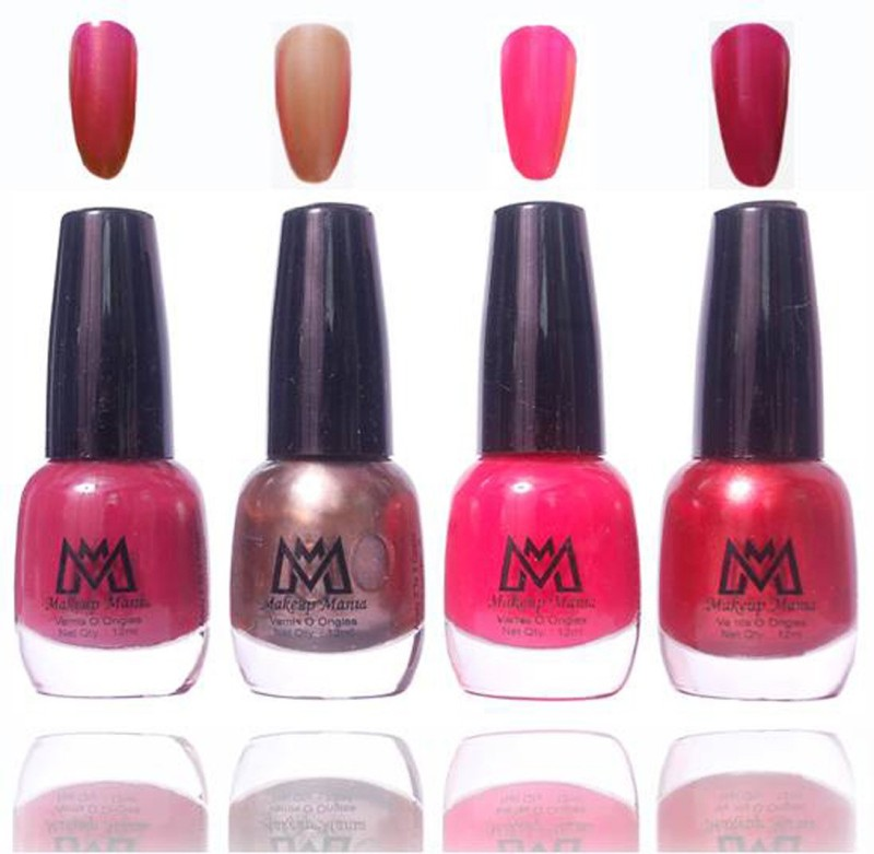 Makeup Mania Premium Collection Nail Polish - Combo of 4 Exclusive Nail Enamels - MM33 Multicolor(48 ml, Pack of 4)