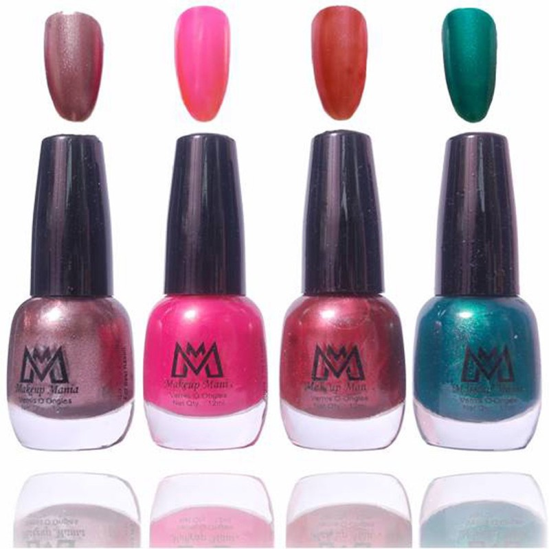Makeup Mania Premium Collection Nail Polish - Combo of 4 Exclusive Nail Enamels - MM56 Multicolor(48 ml, Pack of 4)