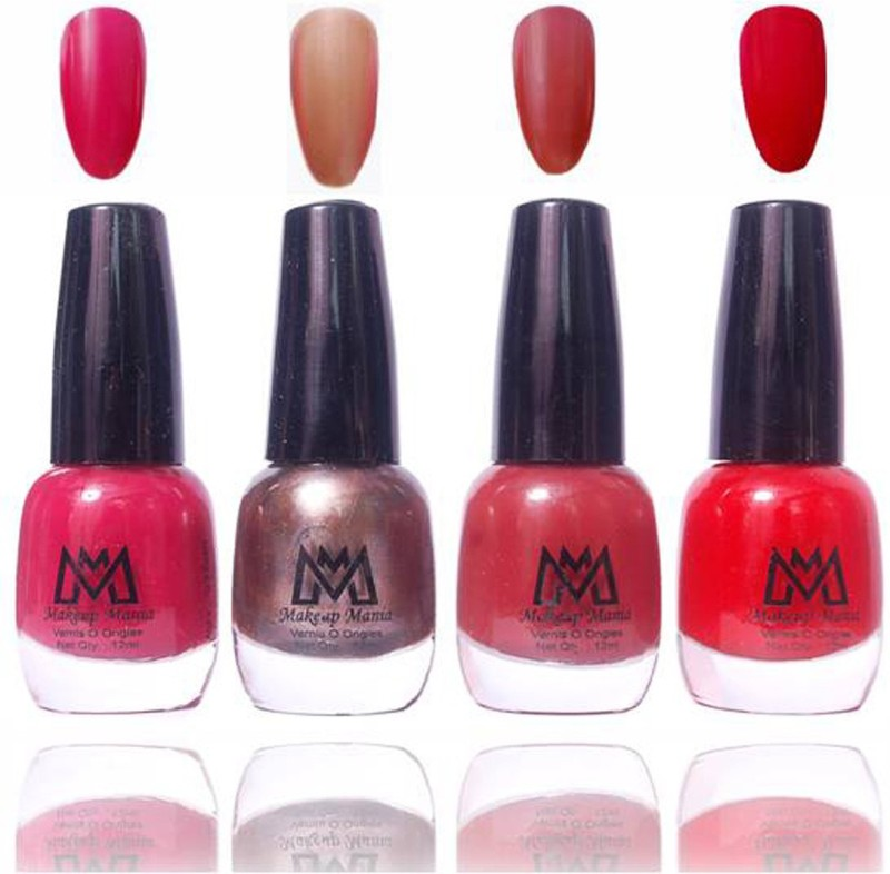 Makeup Mania Premium Collection Nail Polish - Combo of 4 Exclusive Nail Enamels - MM49 Multicolor(48 ml, Pack of 4)