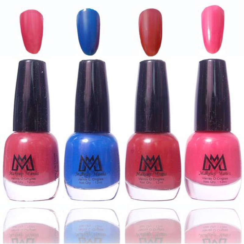 Makeup Mania Premium Collection Nail Polish - Combo of 4 Exclusive Nail Enamels - MM39 Multicolor(48 ml, Pack of 4)