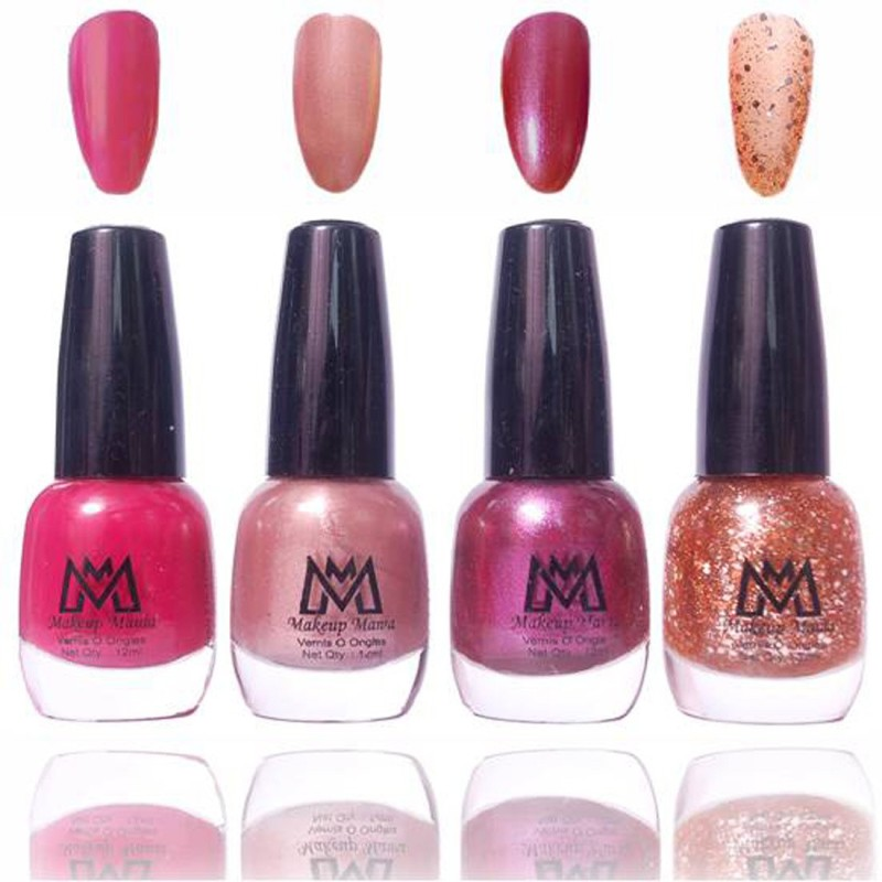 Makeup Mania Premium Collection Nail Polish - Combo of 4 Exclusive Nail Enamels - MM57 Multicolor(48 ml, Pack of 4)