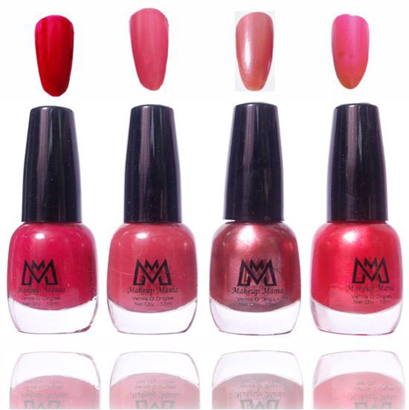 Makeup Mania Premium Collection Nail Polish - Combo of 4 Exclusive Nail Enamels - MM54 Multicolor(48 ml, Pack of 4)