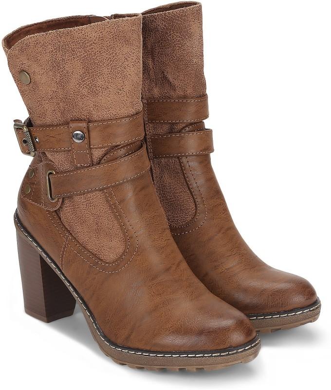 Carlton London CLL-4130 Boots For Women(Tan)