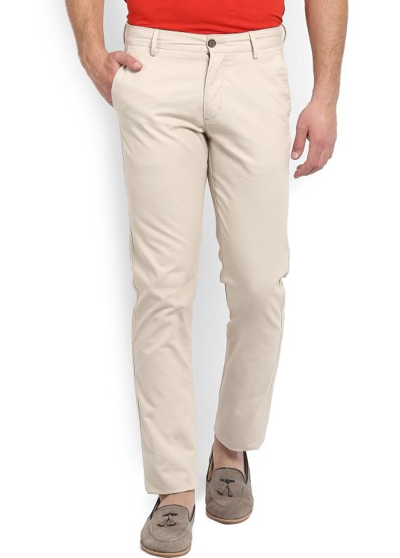 Arrow Sport Regular Fit Mens Beige Trousers