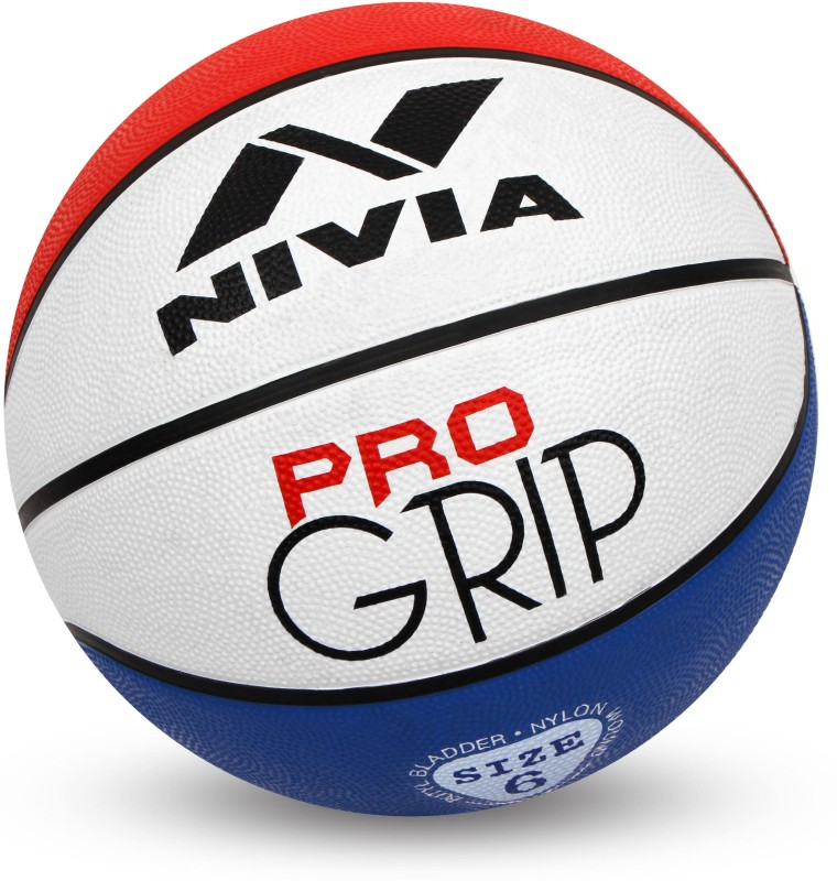 Nivia Pro Grip Basketball - Size: 5(Pack of 1, Red, Blue, White)