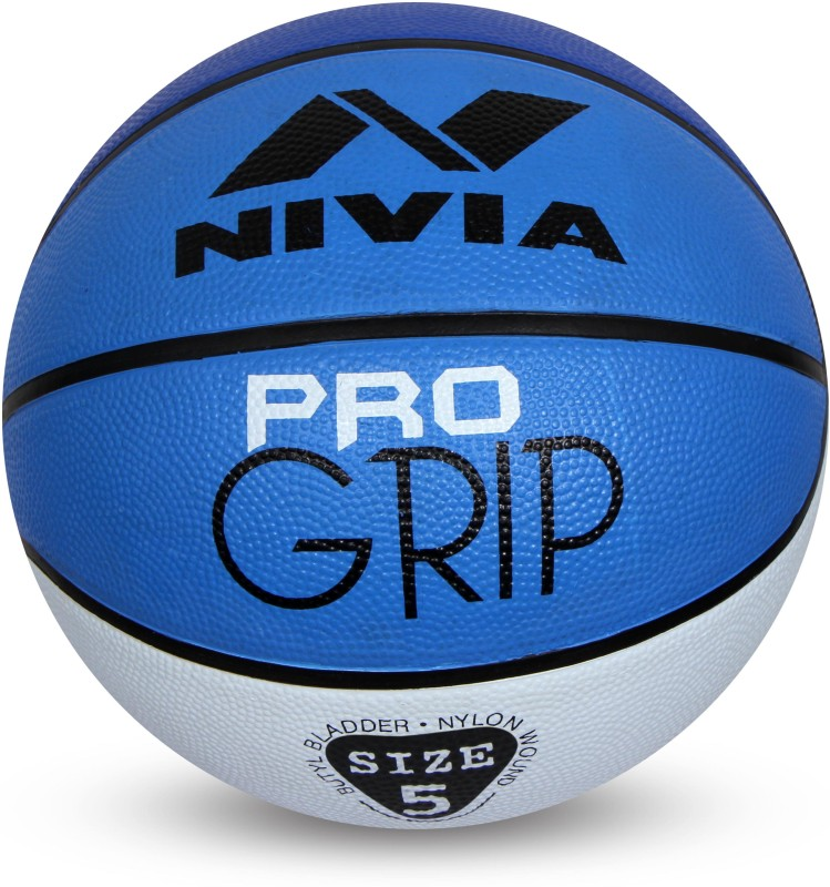 Nivia Pro Grip Basketball - Size: 5(Pack of 1, Blue, White)